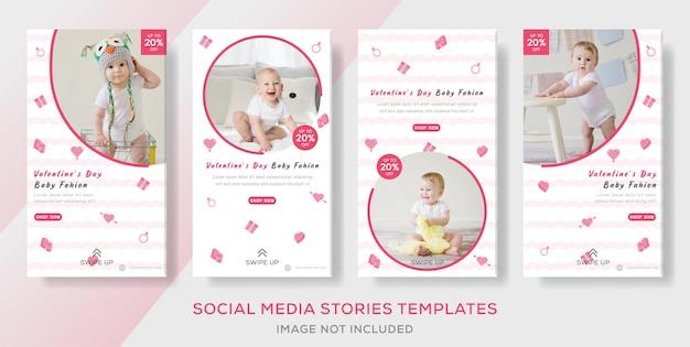 Bannière de publication de histoires de mode bébé