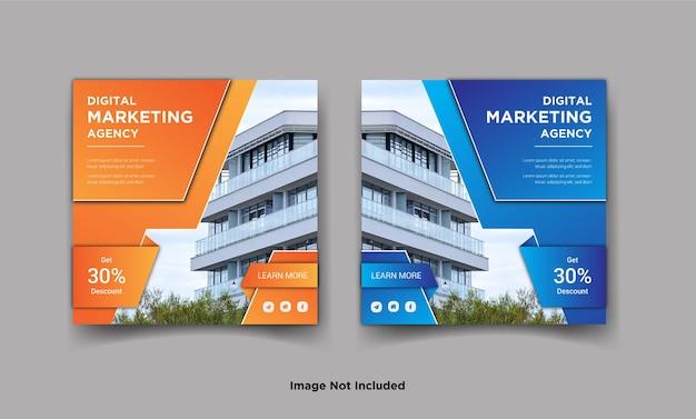 Bannière de publication de médias sociaux instagram marketing numérique