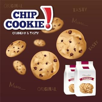 Bannière publicitaire de cookies à puce