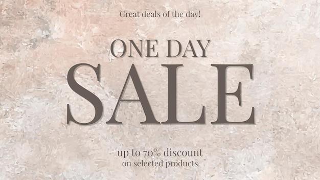 Bannière publicitaire esthétique promotionnelle de vecteur de modèle de vente de mode