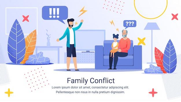 Bannière publicitaire inscription conflit familial.