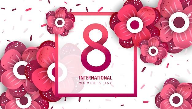 Bannière publicitaire internationale des femmes