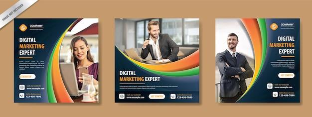 Bannière publicitaire pour le modèle de publication sur les médias sociaux