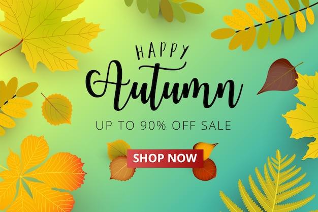 Bannière publicitaire de la saison d'automne.
