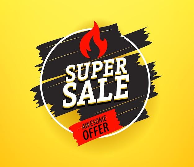 Bannière publicitaire de super vente vendredi noir. offre géniale