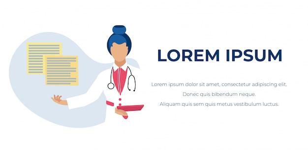 Bannière de publicité en ligne pour consultations médicales