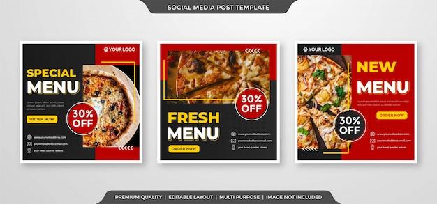 Bannière de publicité de menu de restauration