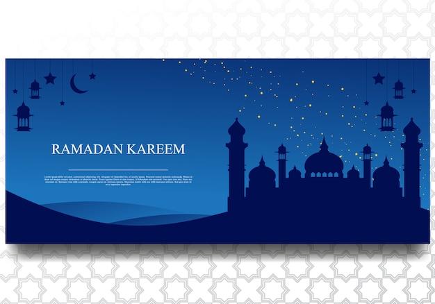 Bannière de ramadan kareem pour le modèle de fond