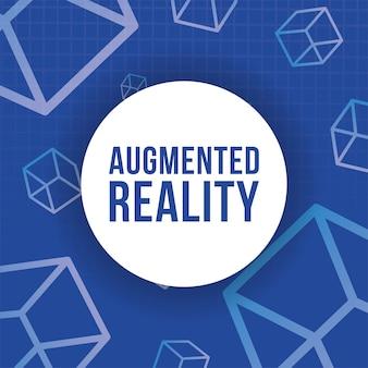 Bannière de réalité augmentée avec des cubes