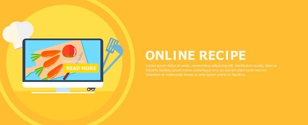Bannière de recette en ligne