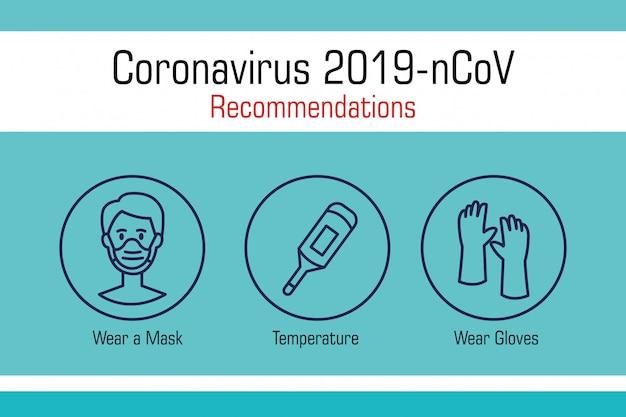 Bannière de recommandations du coronavirus 2019 ncov