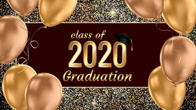 Bannière de remise des diplômes de la classe 2020