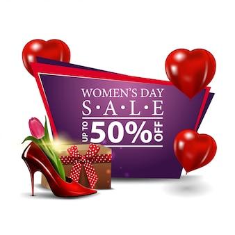 Bannière de remise moderne pour femmes