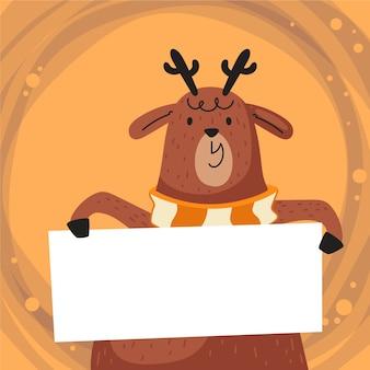 Bannière de rennes tenue noël noël