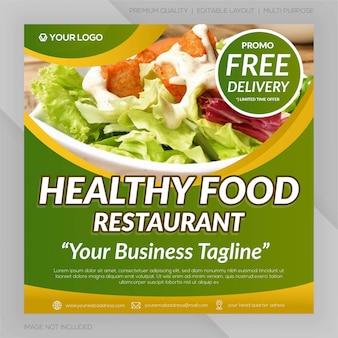 Bannière de restaurant des aliments sains