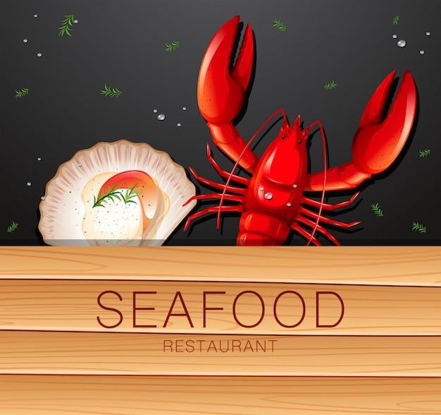 Une bannière de restaurant de fruits de mer