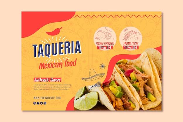 Bannière de restaurant mexicain