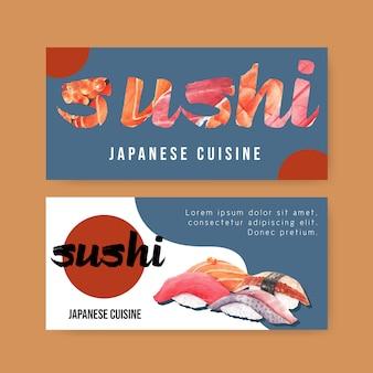 Bannière de restaurant de sushi