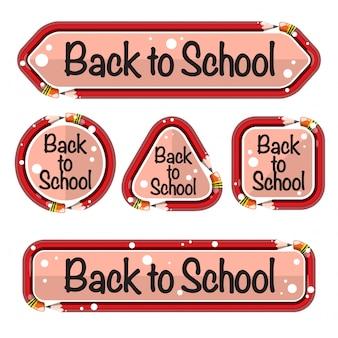 Bannière de retour à l'école