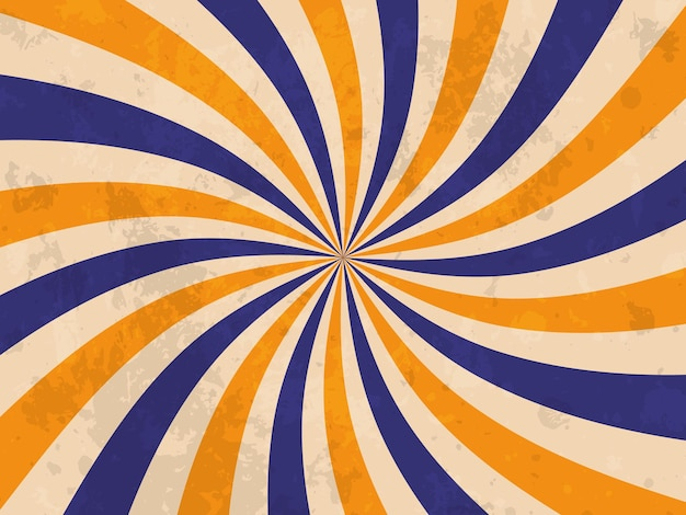 Bannière rétro. fond de rayon de soleil rétro. texture grunge. illustration vectorielle