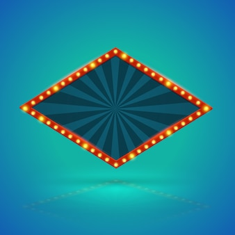Bannière rétro rhomboèdre.