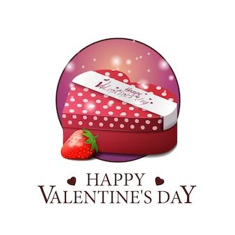 Bannière ronde saint valentin