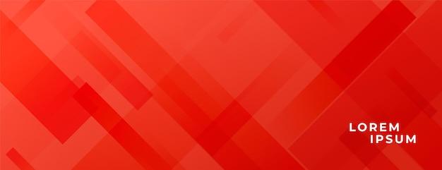 Bannière rouge abstraite avec des lignes diagonales