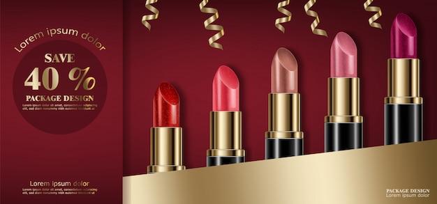 Bannière de rouge à lèvres