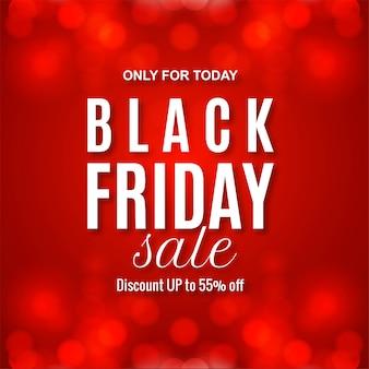 Bannière rouge de vente vendredi noir moderne