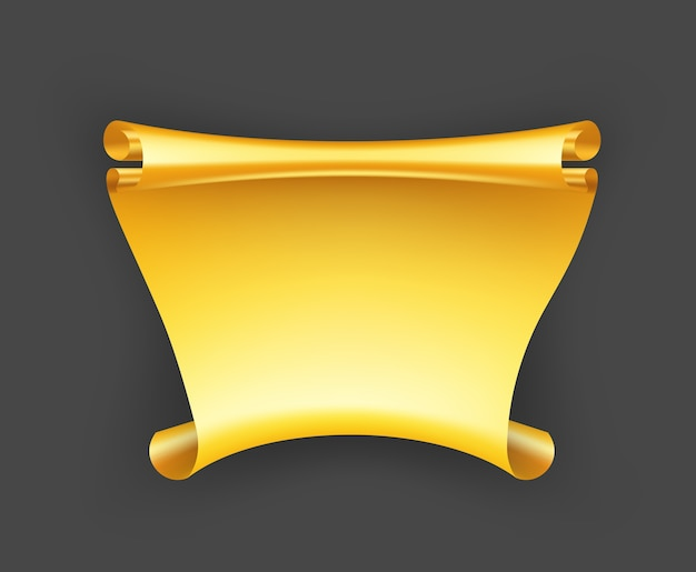 Bannière de ruban d'or