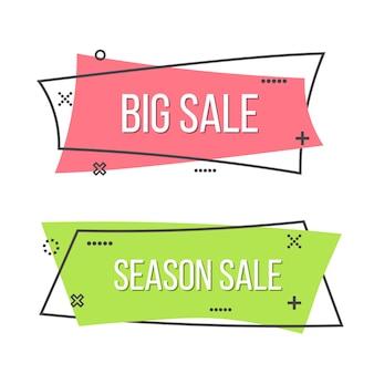 Bannière de ruban de promotion, affiche de vente.