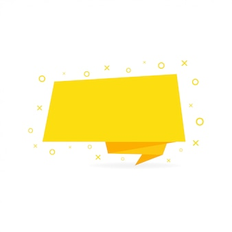 Bannière de ruban, rubans jaunes dans un style plat.
