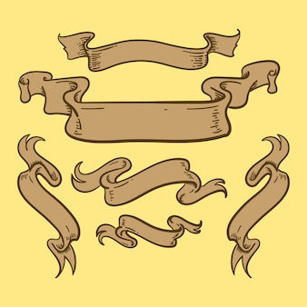 Bannière de ruban vintage