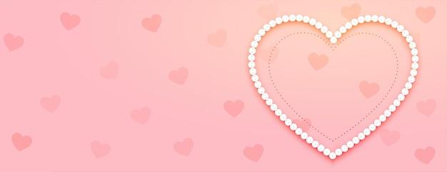 Bannière de la saint-valentin avec coeur