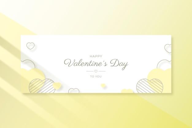 Bannière De La Saint-valentin Vecteur gratuit