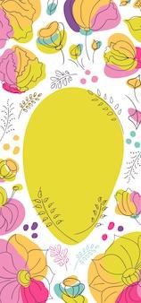 Bannière de saison florale millefleur d'été