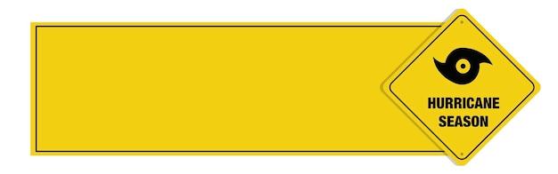 Bannière de la saison des ouragans avec signe.