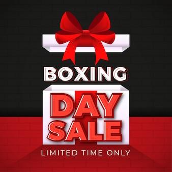 Bannière sale boxing day