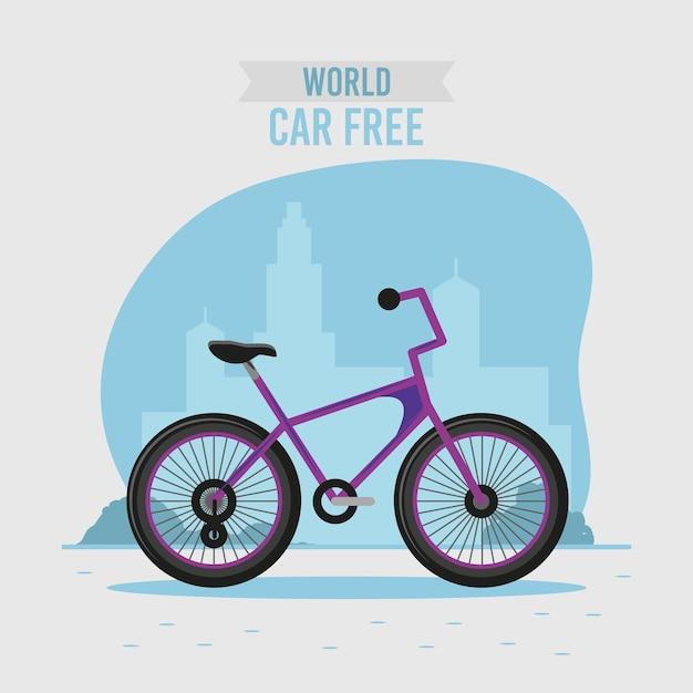 Bannière sans voiture du monde