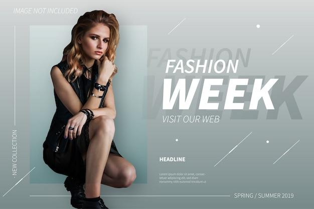 Bannière de la semaine de la mode moderne