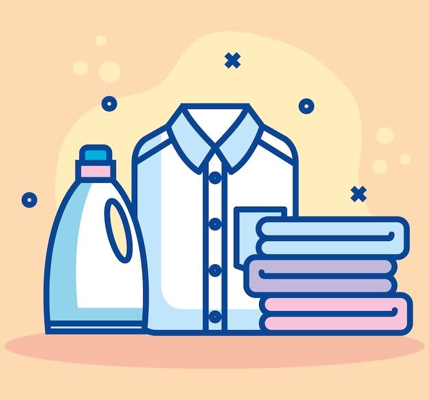Bannière de service de blanchisserie
