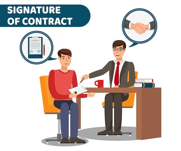 Bannière de signature de document officiel