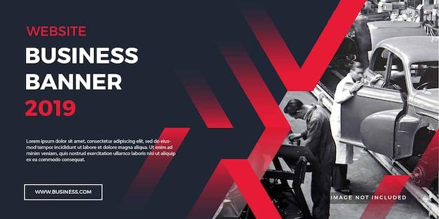 Bannière de site web d'entreprise fond rouge