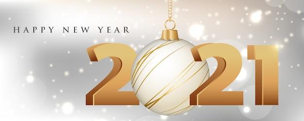 Bannière de site web de nouvel an et de noël.
