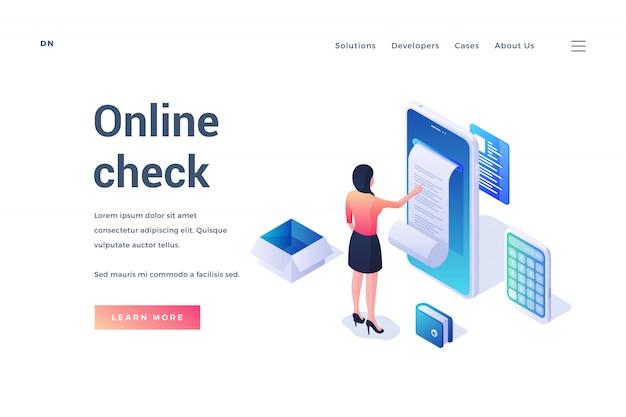 Bannière de site web publicité en ligne possibilité de chèque