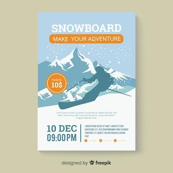 Bannière de snowboard