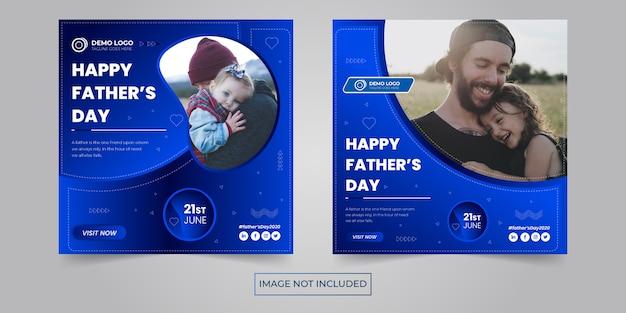 Bannière sociale de la fête des pères