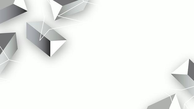 Bannière sociale de formes géométriques grises