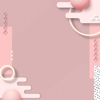 Bannière sociale géométrique rose de memphis
