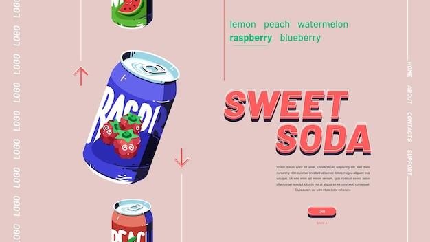 Bannière de soda sucré